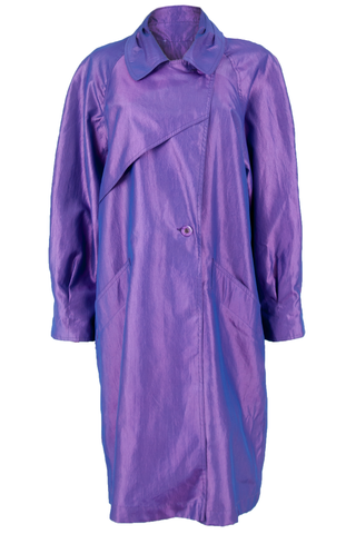purple iridescent coat