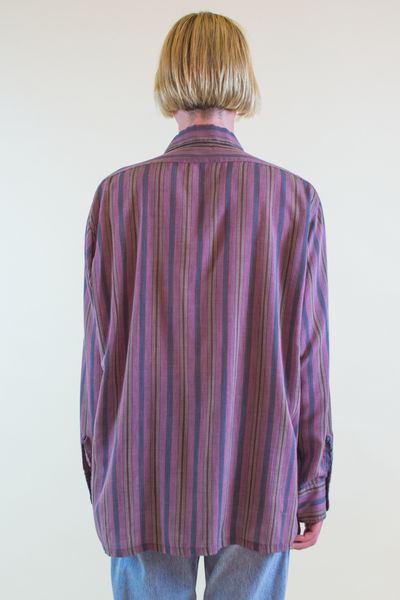 vintage striped shirt in purple multicolor