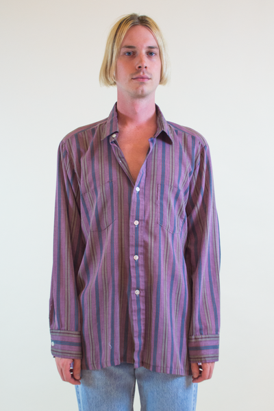 vintage striped shirt in purple