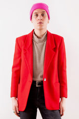 Red Vintage Wool Blazer