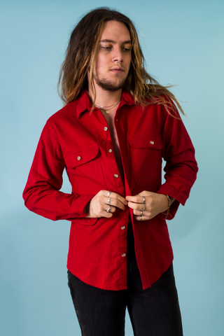 vintage flannel shirt in red
