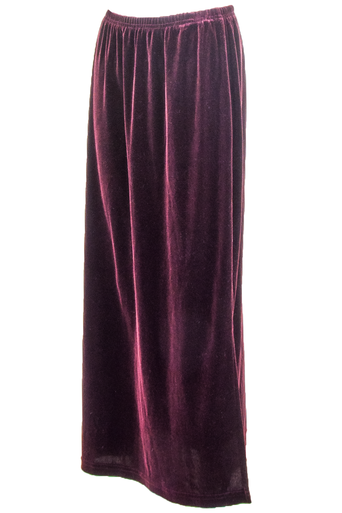 oxblood velvet maxi skirt