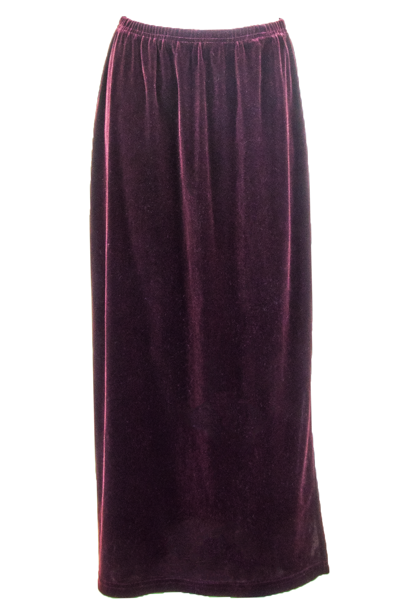 velvet maxi skirt in maroon