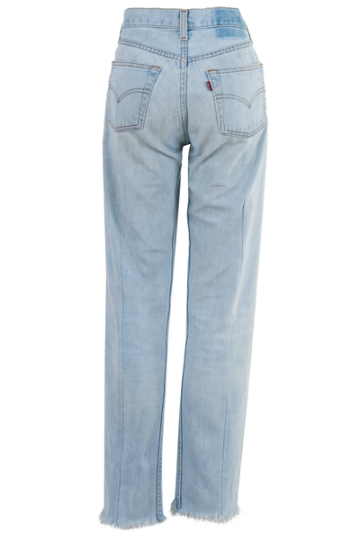 Vintage Levi's jean with raw hems in blue