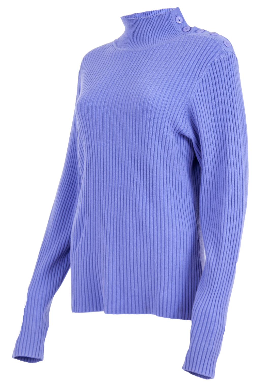 Vintage purple sweater with mock neck and ribbing