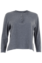 Grey henley with ribbing