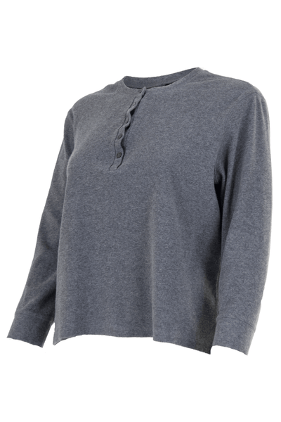 ribbed grey henley