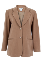 Vintage camel coat with peaked lapel collar