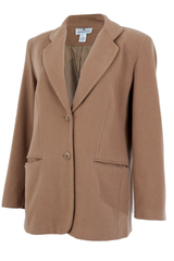 Saks Fifth camel blazer with peaked lapel