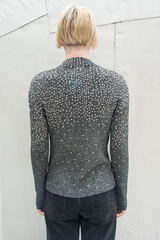 sequin sweater in grey