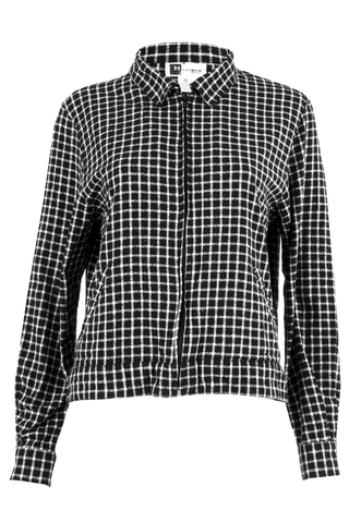 gingham trucker jacket