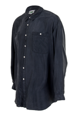 oversized black button up shirt