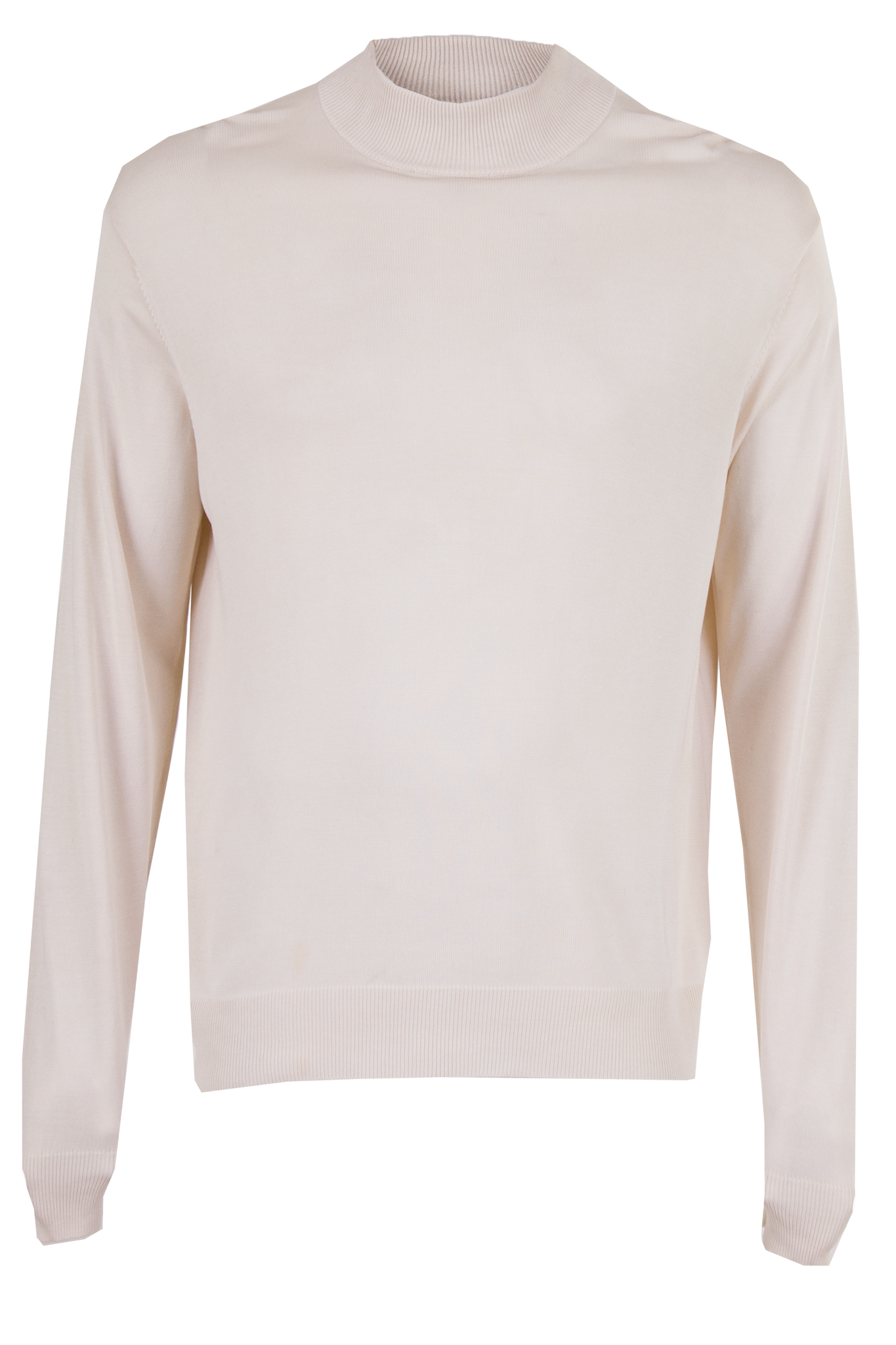 off-white silk mock neck sweater
