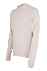 vintage cream mock neck sweater