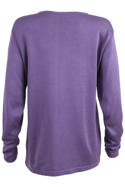 vintage silk purple sweater.