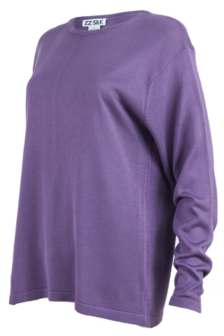 Silk purple vintage sweater.