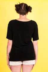 oversized black vintage top