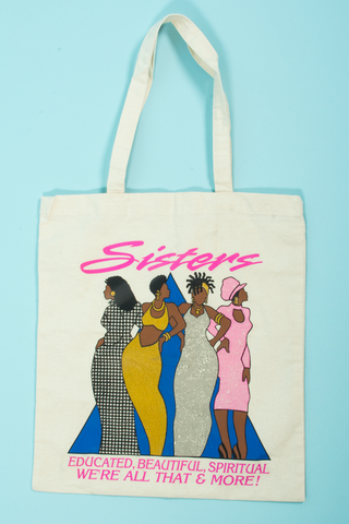 vintage tote bag featuring fabulous black women