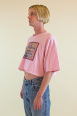 funny needle point vintage t-shirt in pink