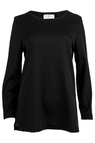 vintage black long sleeve top