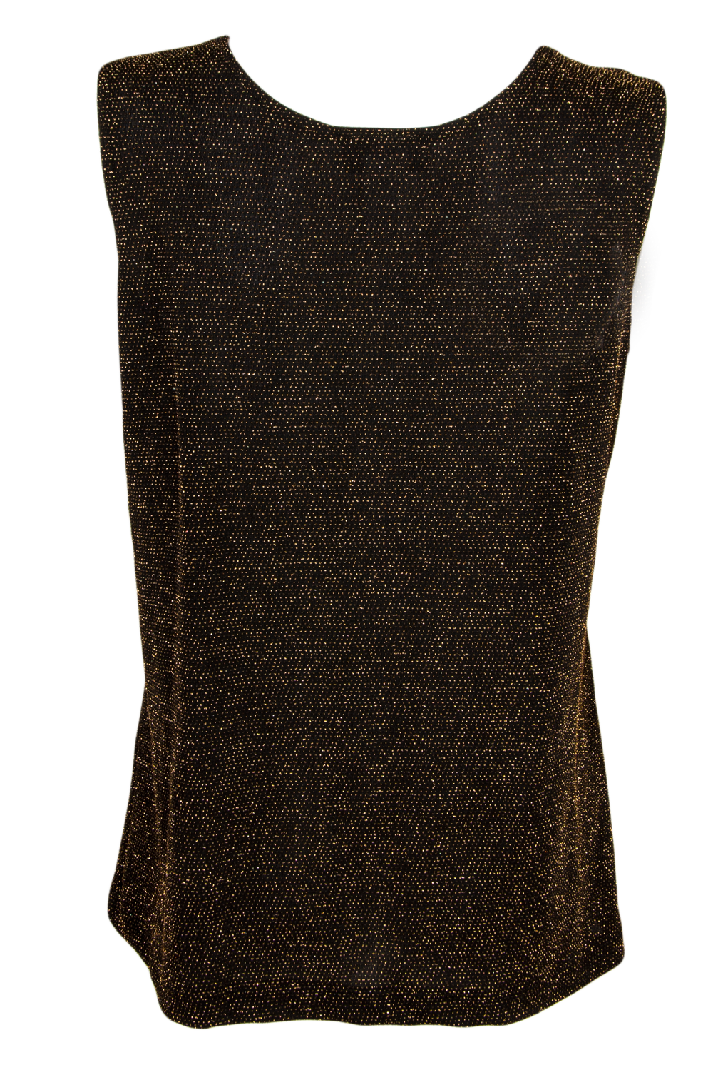 black and gold metallic tank top
