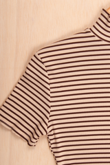 vintage striped mock neck t-shirt