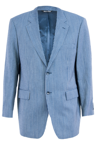 Ermenegildo Zegna blazer with blue pinstripes