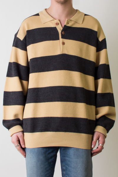 vintage black and yellow sweater