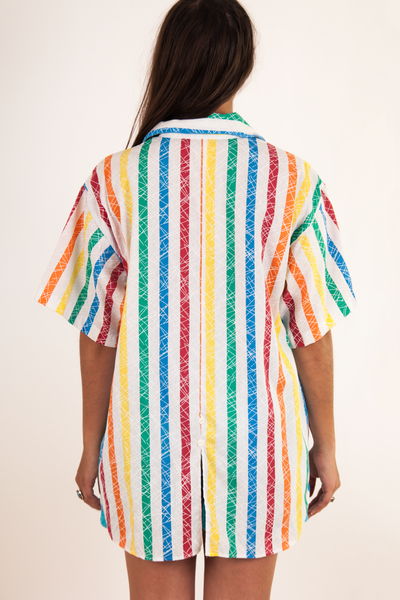 vintage rainbow striped shirt