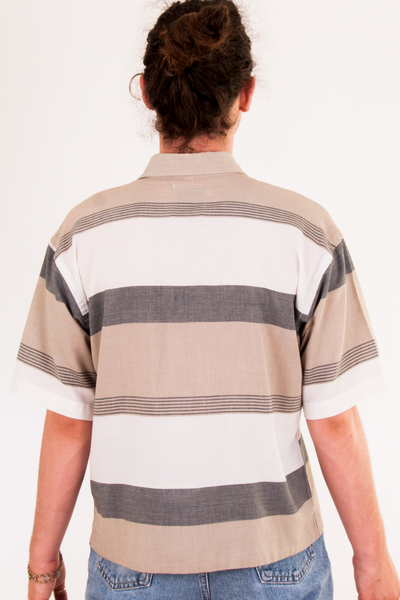 vintage striped short sleeve shirt