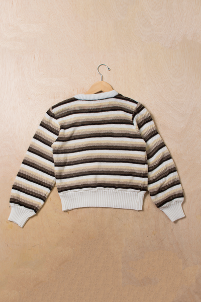 brown striped sweater