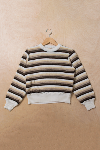 vintage striped sweater with funky texture