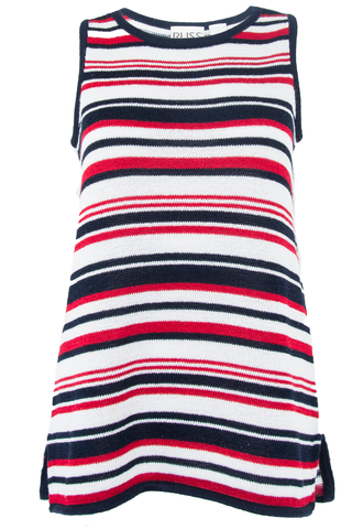 american striped sweater tank top