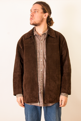 vintage dark brown suede coat