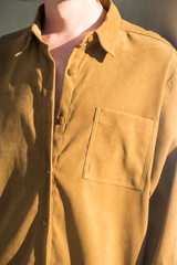 faux suede shirt in tan