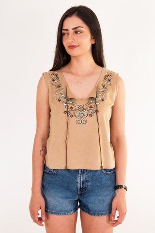 gypsy top with western accents