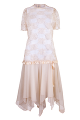 vintage tea party dress in cream
