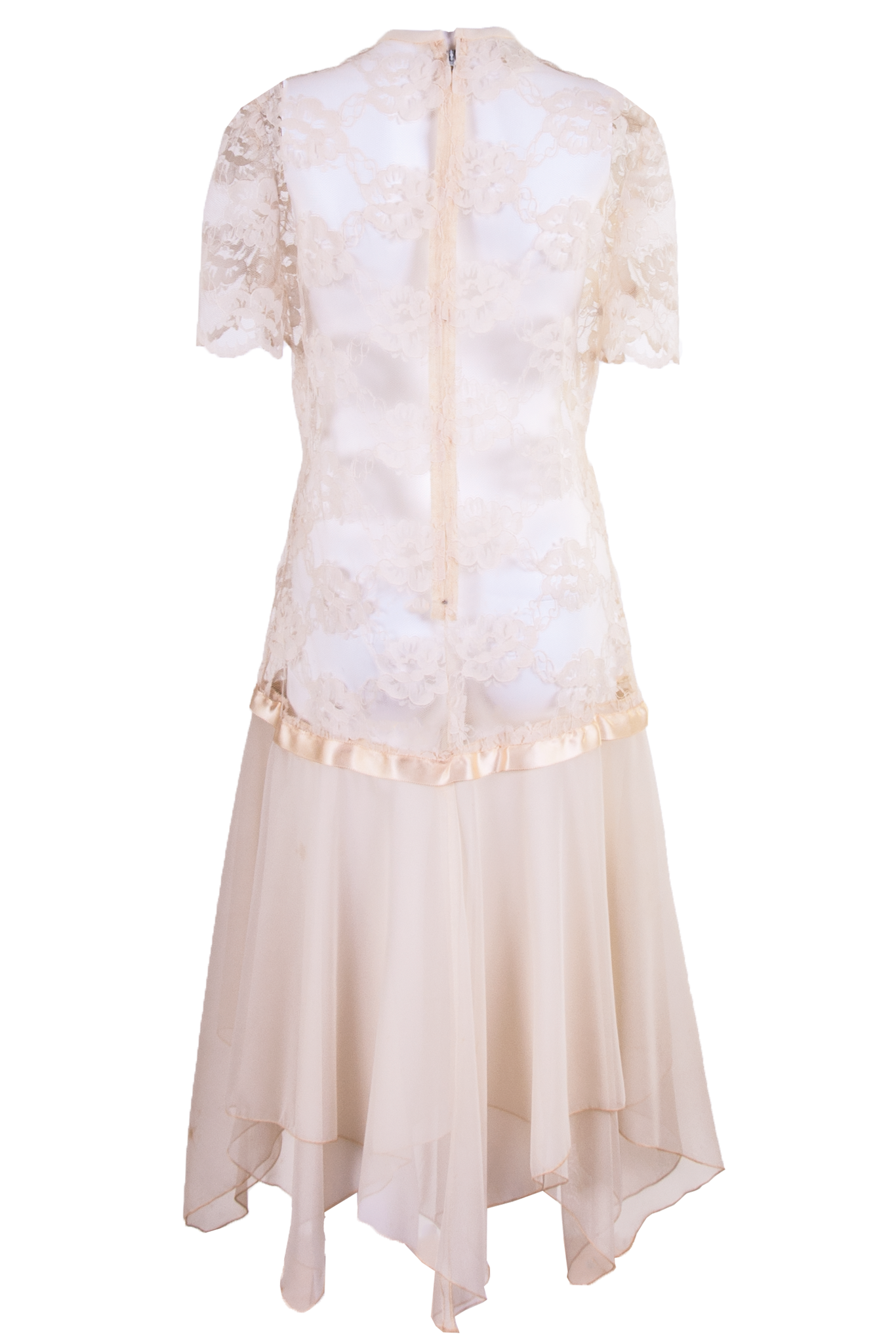 vintage tea party wedding dress in cream