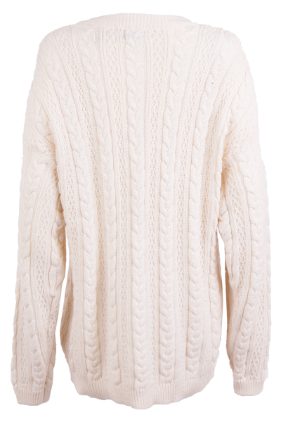 vintage winter white sweater