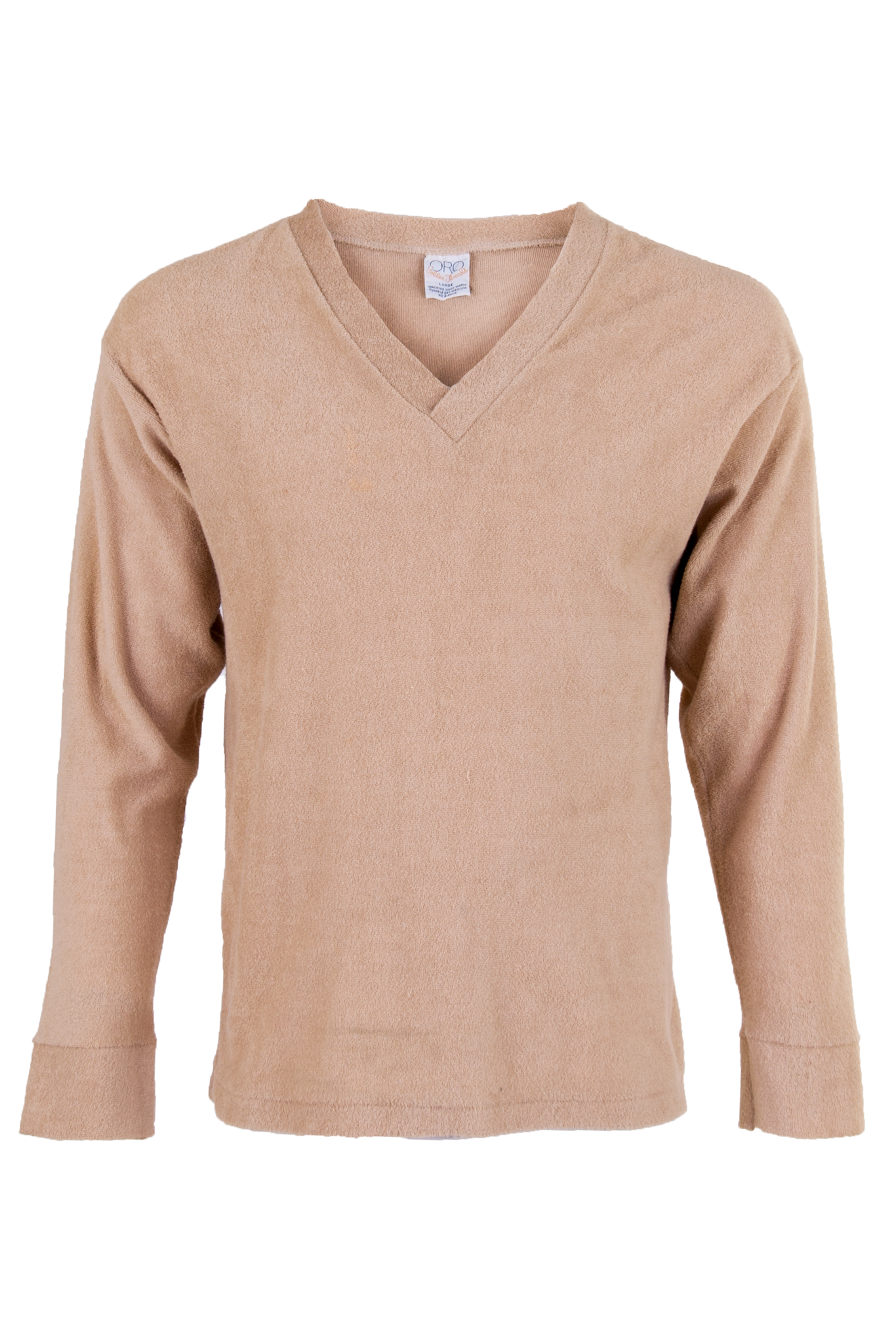 terry cloth camel sweater