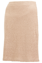 terrycloth skirt in tan