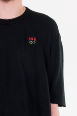 vintage olympics USA t-shirt in black