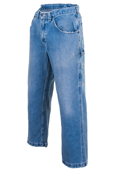 vintage distressed blue jean