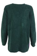 Vintage green velvet sweater