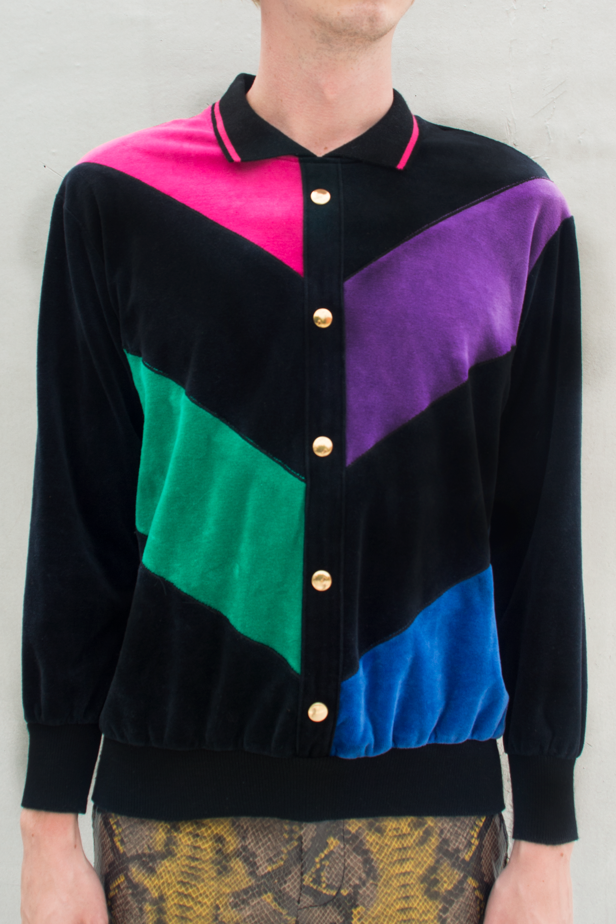Gucci inspired color block sweatshirt