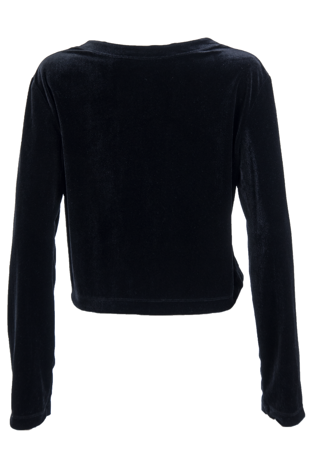 vintage black velvet sweater