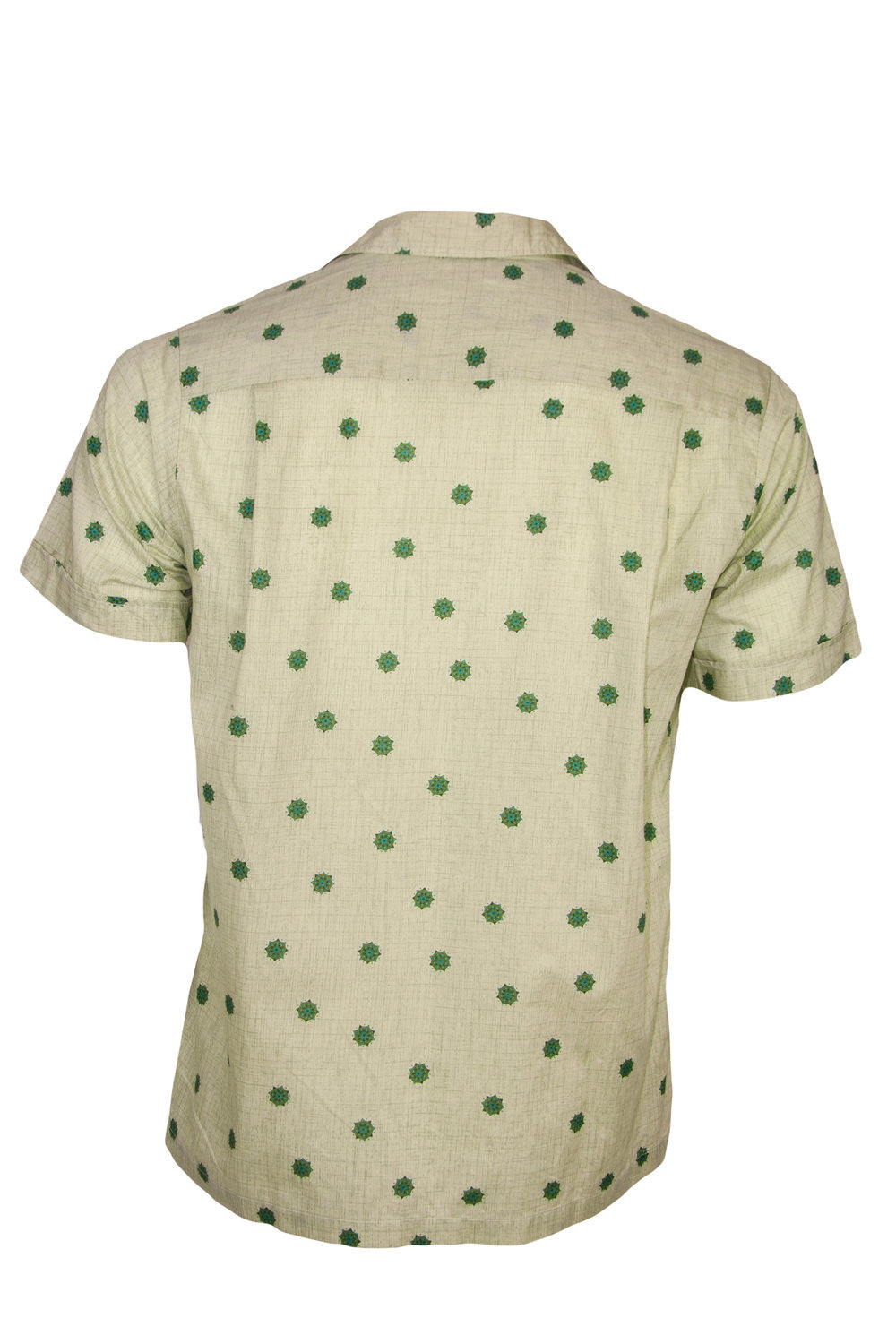 Vintage button up shirt with green print