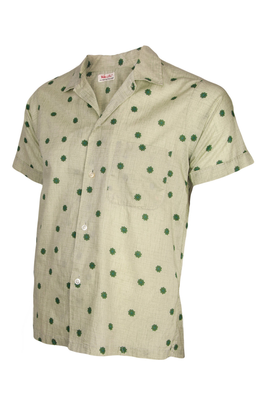 Vintage green short sleeve button up