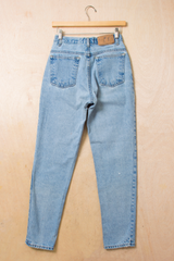 back view of vintage jeans