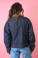 vintage LEE denim jacket with corduroy collar
